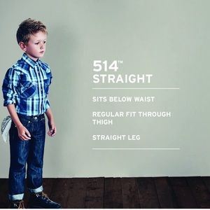 Levi's 514  Adjustable Waist Dark Straight Jean